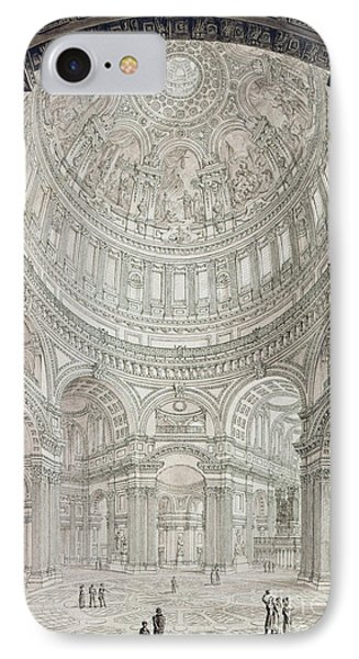 Interior Of Saint Pauls Cathedral IPhone Case by John Coney