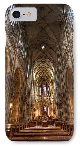 IPhone Case featuring the photograph Interior Of Saint Vitus Cathedral by Gabor Pozsgai
