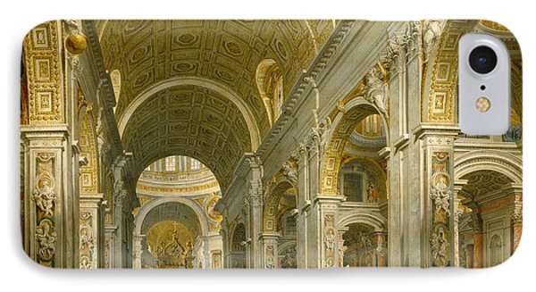 Interior Of St. Peter's - Rome IPhone Case by Giovanni Paolo Panini
