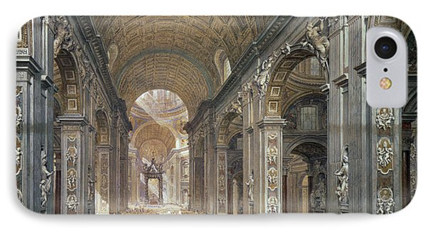 Interior Of St Peter's, Rome, 1867 IPhone Case by Louis Haghe