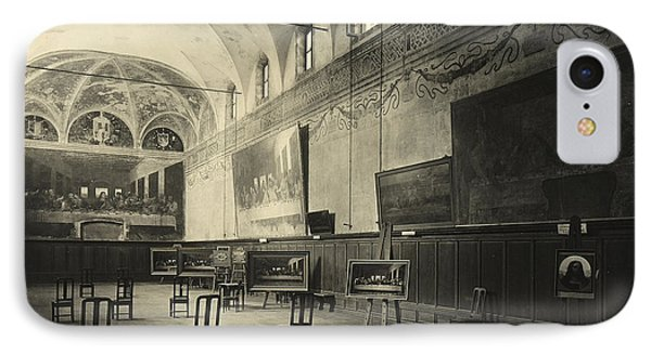 Interior Of The Dining Hall Of The Church Of Santa Maria Delle Grazie Milan IPhone Case