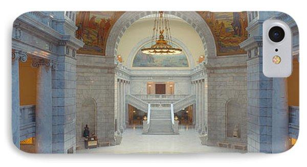 Interior Of Utah State Capitol, Salt IPhone Case by Panoramic Images