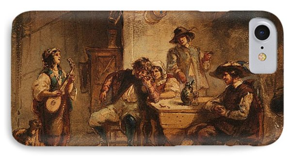 Interior Scene With A Lute Player IPhone Case