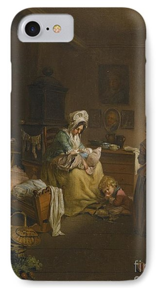 Interior Scene With A Mother IPhone Case