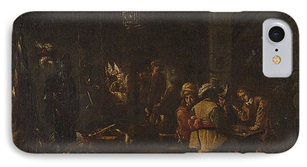 Interior Scene With Soldiers Paying IPhone Case