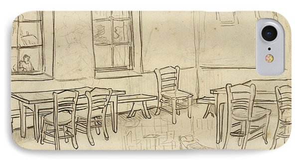 Interior With Tables And Chairs, And A Sketch Of 'the Bedroom', 1890 IPhone Case by Vincent Van Gogh