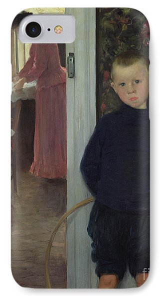 Interior With Women And A Child Phone Case by Paul Mathey
