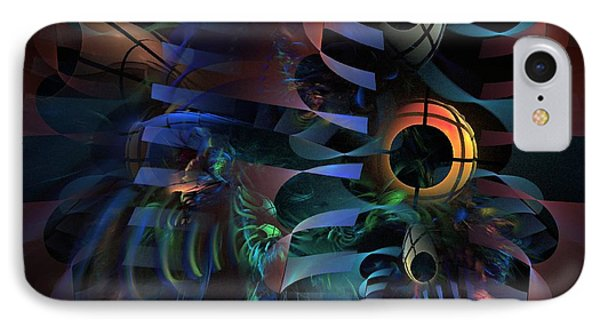 IPhone Case featuring the digital art Interlude 1536 - Fractal Art by NirvanaBlues