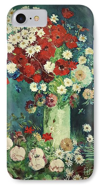 Interpretation Of Van Gogh Still Life With Meadow Flowers And Roses IPhone Case