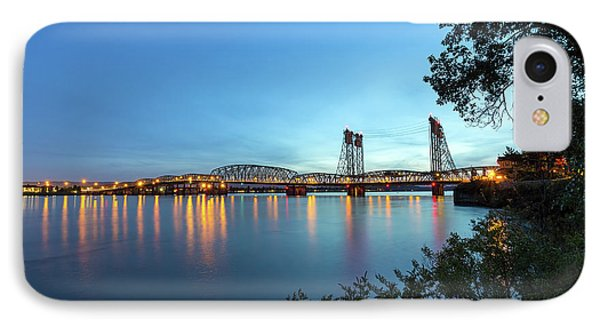 Interstate Bridge Over Columbia River At Dusk Phone Case by David Gn