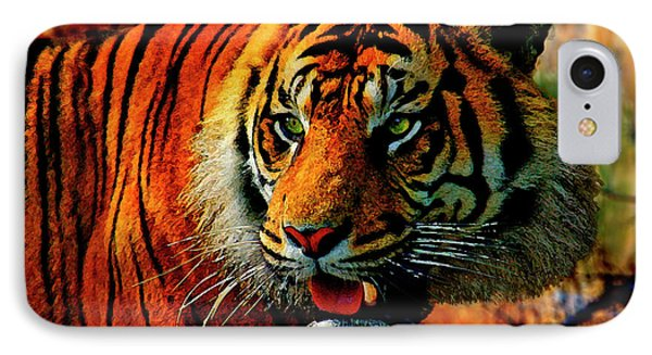 Intimidating Camouflage Bengal Tiger  IPhone Case by Dale Jackson