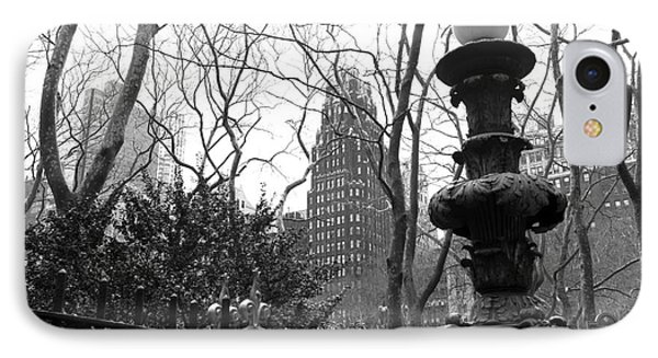 Into Bryant Park Mono IPhone Case by John Rizzuto