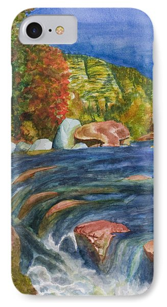 IPhone Case featuring the painting Into Slide Rock by Eric Samuelson