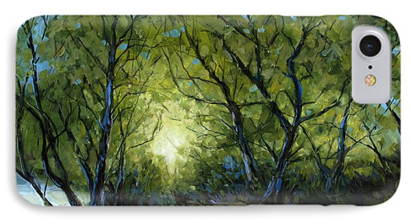 IPhone Case featuring the painting Into The Light by Billie Colson