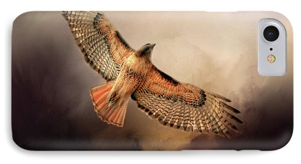Buzzard iPhone 7 Case - Into The Light by Donna Kennedy