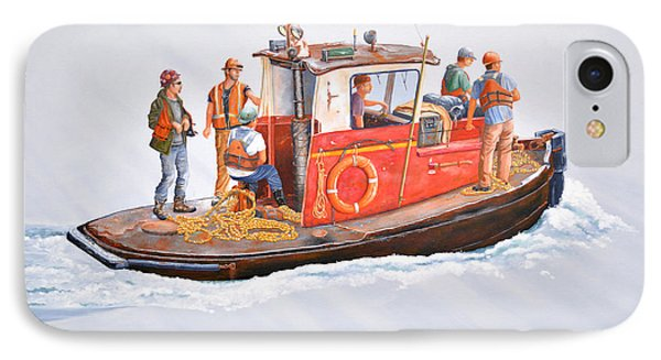 Into The Mist-the Crew Boat IPhone Case by Gary Giacomelli