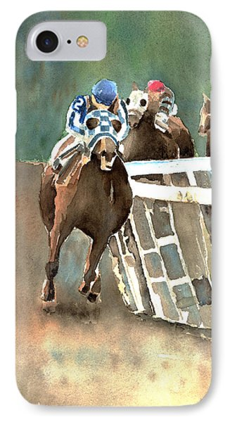 Into The Stretch And Headed For Home-secretariat Phone Case by Arline Wagner