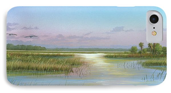 Intracoastal Glimmer IPhone Case by Mike Brown
