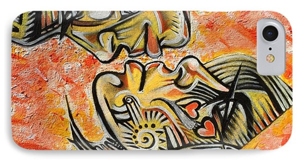 iPhone 7 Case - Intricate Intimacy by Artist RiA