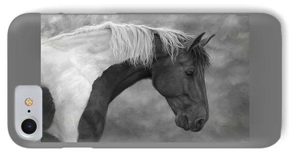 Intrigued - Black And White IPhone Case by Lucie Bilodeau