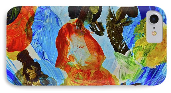 IPhone Case featuring the painting Intuitive Painting  215 by Joan Reese