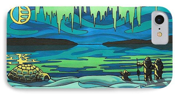 Inuit Love Arctic Landscape Painting Phone Case by Kim Hunter