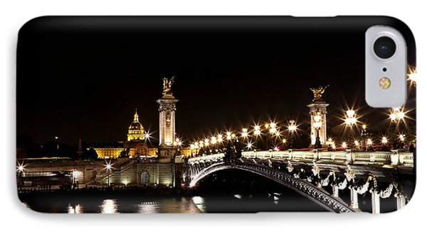IPhone Case featuring the photograph Invalides At Night 1 by Andrew Fare
