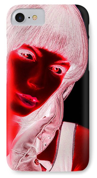 Inverted Realities - Red  IPhone Case by Serge Averbukh