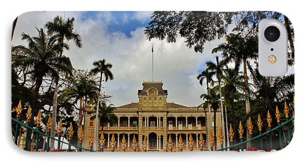 IPhone Case featuring the photograph Iolani Palace Reopens by Craig Wood