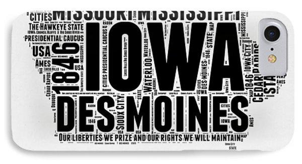 Iowa Word Cloud 2 IPhone Case