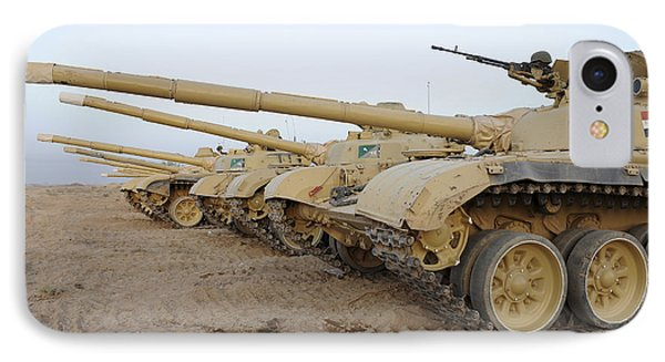 Iraqi T-72 Tanks From Iraqi Army Phone Case by Stocktrek Images