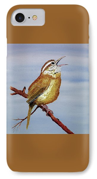 IPhone Case featuring the painting Irate Wren by Thom Glace