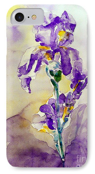 IPhone Case featuring the painting Iris 2 by Jasna Dragun