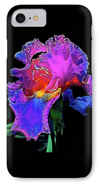 IPhone Case featuring the photograph Iris 3 by Pamela Cooper