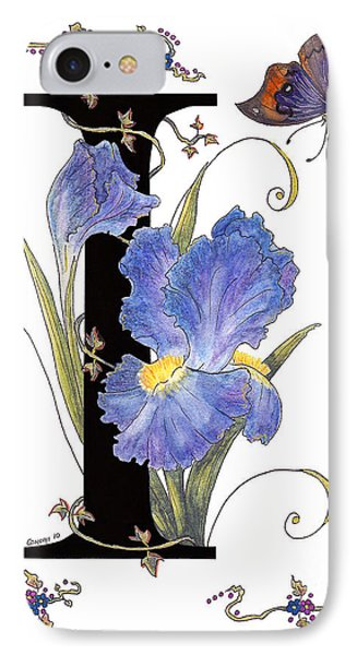 Iris And Indian Leaf Butterfly - Stolen IPhone Case by Stanza Widen
