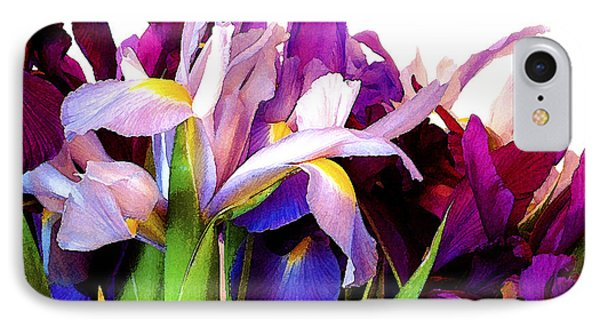 Iris Bouquet IPhone Case by Janis Nussbaum Senungetuk