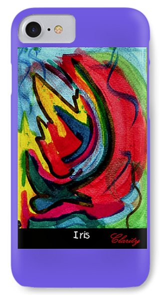 IPhone Case featuring the painting Iris by Clarity Artists