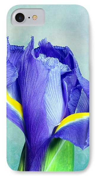 Iris Flower Of Faith And Hope IPhone Case by Tom Mc Nemar