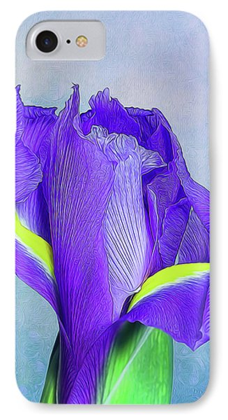 Iris Flower IPhone 7 Case by Tom Mc Nemar