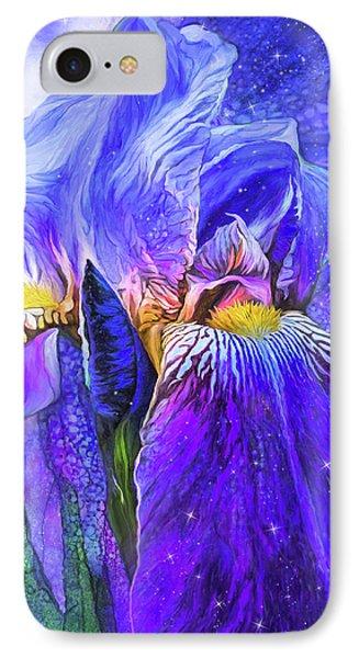 IPhone Case featuring the mixed media Iris - Goddess Of Starlight by Carol Cavalaris