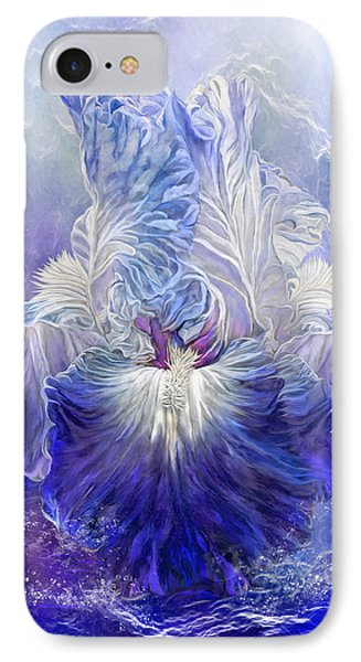 IPhone Case featuring the mixed media Iris - Goddess Of The Sea by Carol Cavalaris