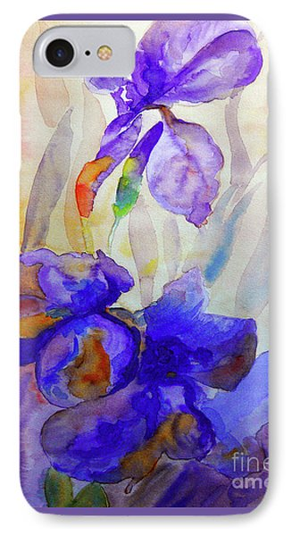 IPhone Case featuring the painting Iris by Jasna Dragun