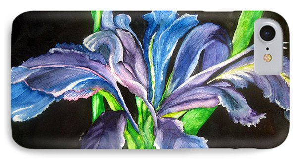 IPhone Case featuring the painting Iris by Lil Taylor