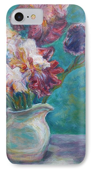 Iris Medley - Original Impressionist Painting IPhone Case by Quin Sweetman