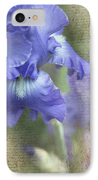 IPhone Case featuring the photograph Iris Memories by Angie Vogel