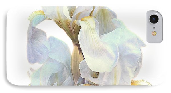IPhone Case featuring the photograph Iris On White by Ken Frischkorn