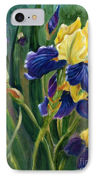 IPhone Case featuring the painting Iris by Renate Nadi Wesley