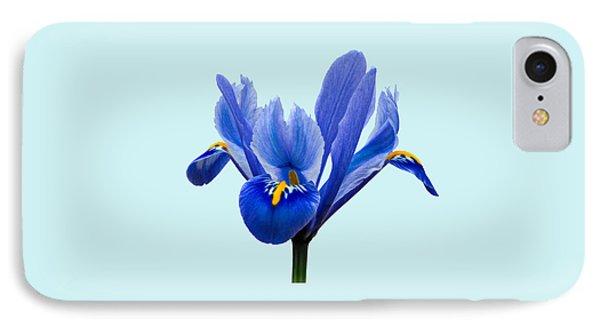 Iris Reticulata Blue Background IPhone Case