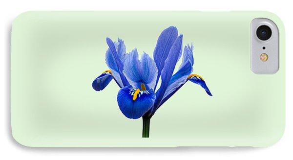 Iris Reticulata, Green Background IPhone Case
