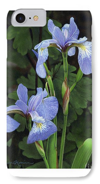 Iris Study IPhone Case by Bruce Morrison